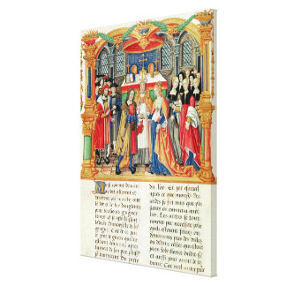 Marriage of Maria of Burgundy and Maximilian I Canvas Print