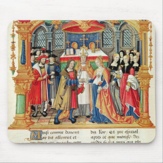 Marriage of Maria of Burgundy and Maximilian I Mouse Pad