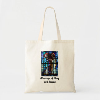Marriage of Mary and Saint Joseph Stained Glass Tote Bag