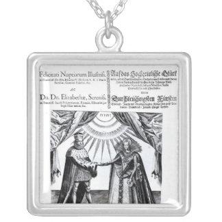 Marriage of Princess Elizabeth Square Pendant Necklace