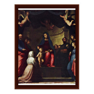 Marriage Of St. Catherine By Bartolomeo Fra Postcard