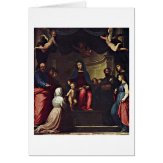 Marriage Of St. Catherine By Fra Bartolomeo Card