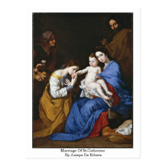 Marriage Of St.Catherine By Jusepe De Ribera Postcard