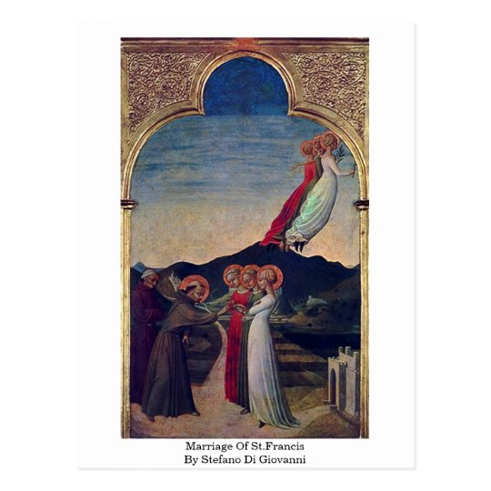 Marriage Of St.Francis By Stefano Di Giovanni Postcard