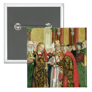 Marriage of the Virgin, from the Dome Altar, 1499 2 Inch Square Button
