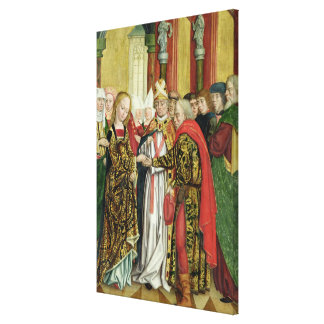 Marriage of the Virgin, from the Dome Altar, 1499 Canvas Print