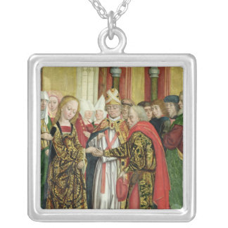 Marriage of the Virgin, from the Dome Altar, 1499 Silver Plated Necklace