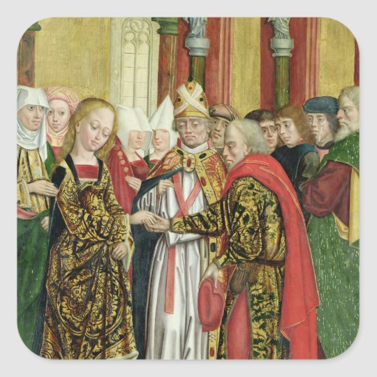 Marriage of the Virgin, from the Dome Altar, 1499 Square Sticker
