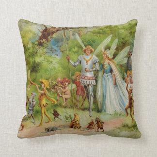Marriage of Thumbelina Throw Pillow