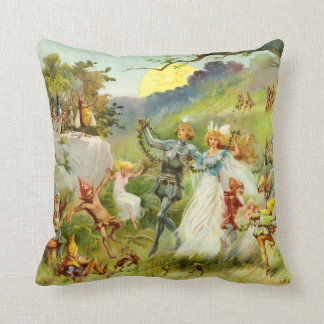 Marriage of Thumbelina Throw Pillow