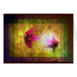 marriage of Titania; Salmon berry floral duet Card