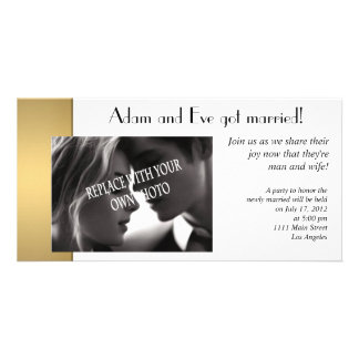 Marriage photo announcement template personalized photo card