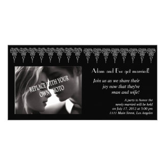 Marriage photo announcement template customized photo card