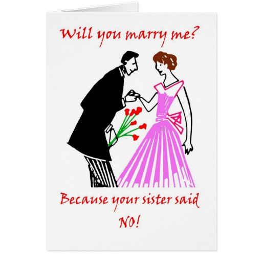 Marriage Proposal Funny Humor Wedding Card Zazzle