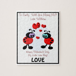 Marriage Proposal Love Bugs Puzzles