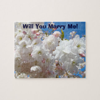 Marriage Proposal puzzle Will You Marry Me! Floral