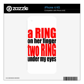 marriage reality ring finger eyes joke romance cou iPhone 4S decal
