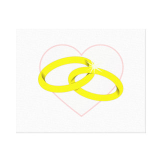 Marriage Rings Canvas Print