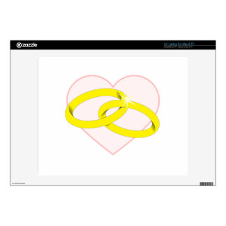 """Marriage Rings Decals For 14"""" Laptops"""