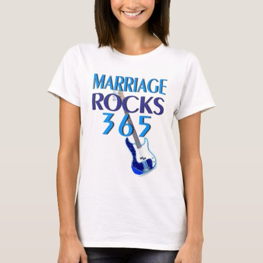 Marriage Rocks 365 Fitted T-Shirt