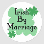marriage round sticker