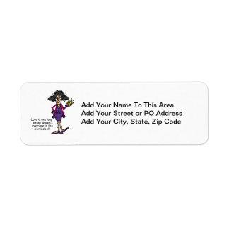 Marriage Rude Awakening Return Address Label