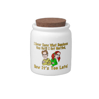 Marriage Ruined Happiness Candy Jar