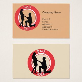 Marriage, run away from this. business card