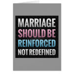Marriage Should Be Reinforced Cards