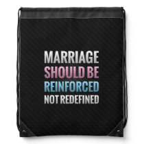 Marriage Should Be Reinforced Drawstring Bag