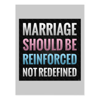 Marriage Should Be Reinforced Postcard