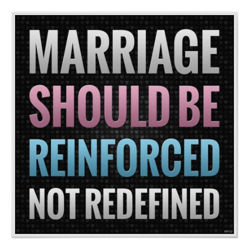 Marriage Should Be Reinforced Print