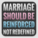 Marriage Should Be Reinforced Square Stickers