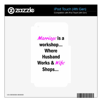 Marriage Skins For iPod Touch 4G