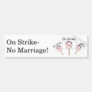 Marriage Strike Bumper Sticker-White Background Car Bumper Sticker