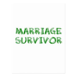 Marriage Survivor - 1 - Green Postcard