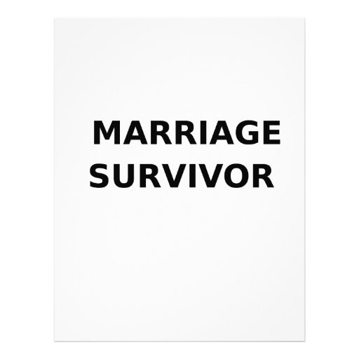 Marriage Survivor - 2 - Black Custom Letterhead