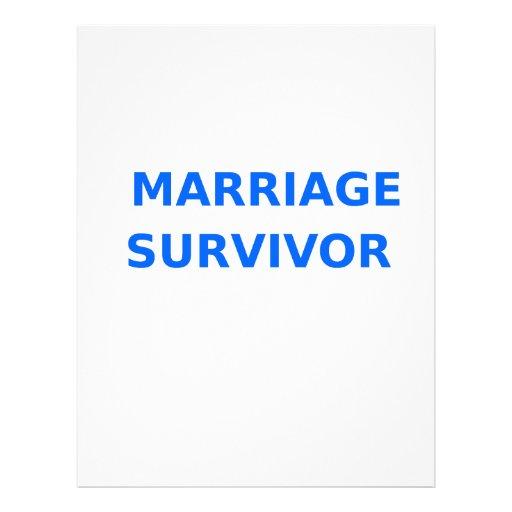 Marriage Survivor - 2 - Blue Letterhead Design