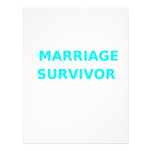 Marriage Survivor - 2 - Cyan Custom Letterhead