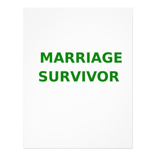 Marriage Survivor - 2 - Green Custom Letterhead