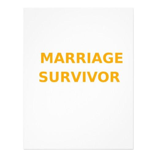 Marriage Survivor - 2 - Orange Letterhead Design