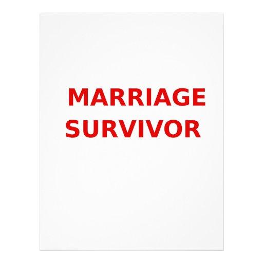 Marriage Survivor - 2 - Red Custom Letterhead