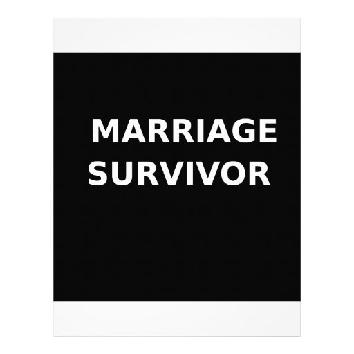 Marriage Survivor - 2 - White Custom Letterhead