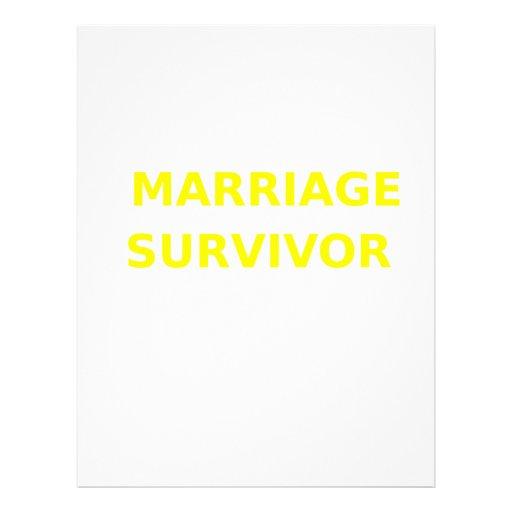 Marriage Survivor - 2 - Yellow Personalized Letterhead