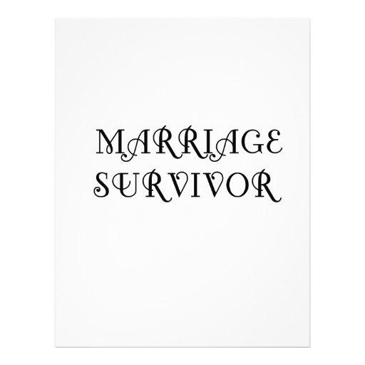 Marriage Survivor - 3 - Black Letterhead Template