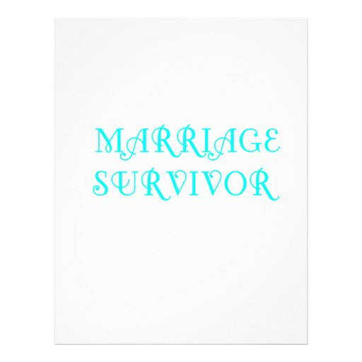 Marriage Survivor - 3 - Cyan Customized Letterhead