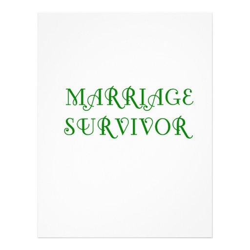 Marriage Survivor - 3 - Green Letterhead