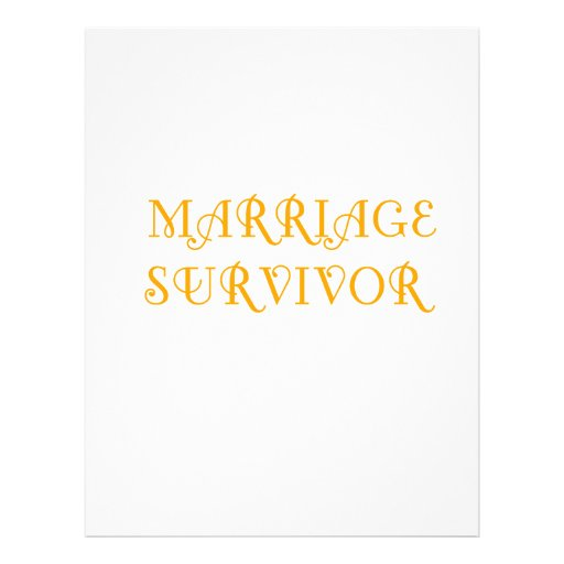 Marriage Survivor - 3 - Orange Letterhead Template