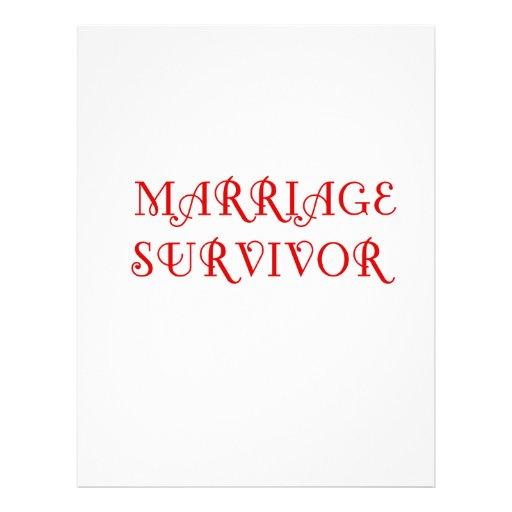 Marriage Survivor - 3 - Red Customized Letterhead