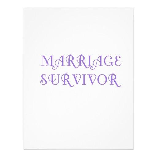 Marriage Survivor - 3 - Violet Custom Letterhead